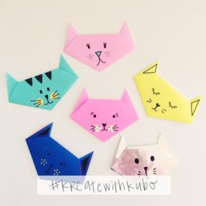 Super Quick Origami Paper Crafts Cat Face