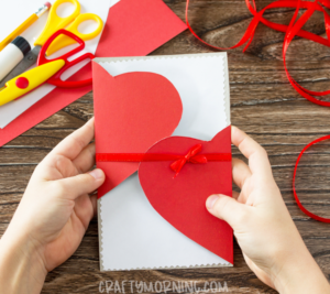 DIY Folded Heart Card – Valentines Day Creative Cards