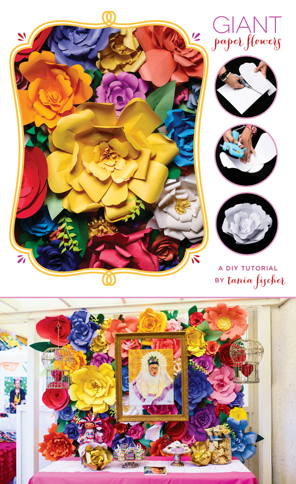 Giant Paper Flower Tutorial in Rich Colors