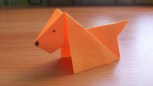 An Easy Tutorial for Origami Paper Dog Crafting