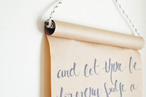 DIY Scroll Paper Wall Art with Nice Quotes