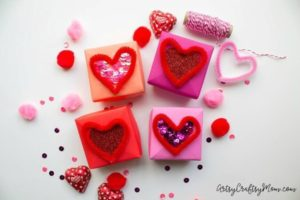 DIY Origami Gift Box with Gorgeous Valentine Decorations