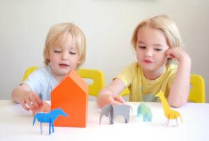 Paint Chip Paper Animal Friends DIY Handmade Charlotte