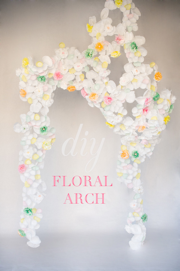 DIY Paper Craft: Beautiful Floral Arch with Paper Blooms