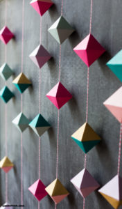 DIY Home Decor Craft Paper Geode Garland