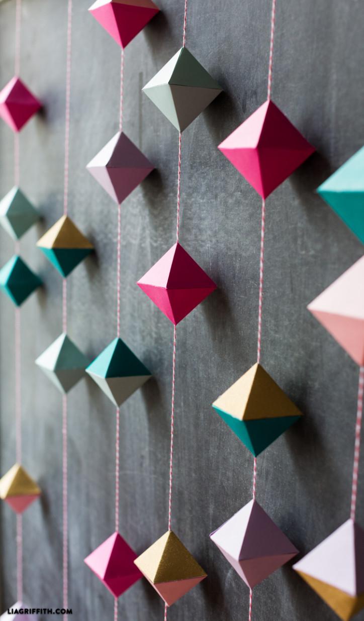 DIY Home Decor Craft Paper Geode Garland