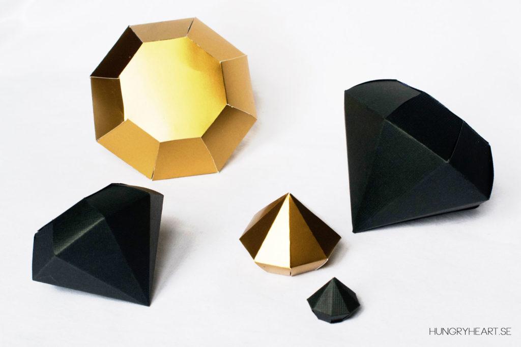 DIY Paper Diamonds with Three Gorgeous Templates