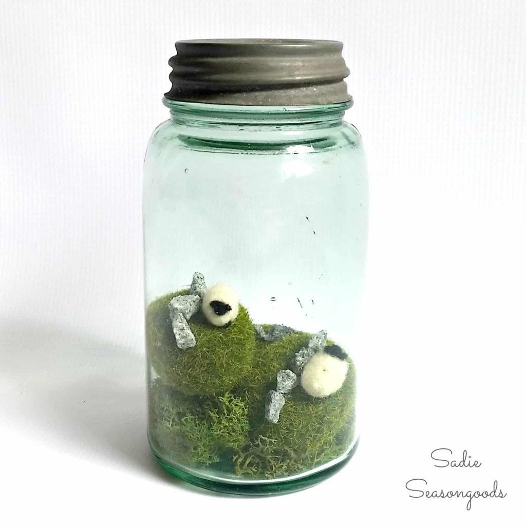 DIY Terrarium Mason Jar Craft: Ireland Island inside the Bottle