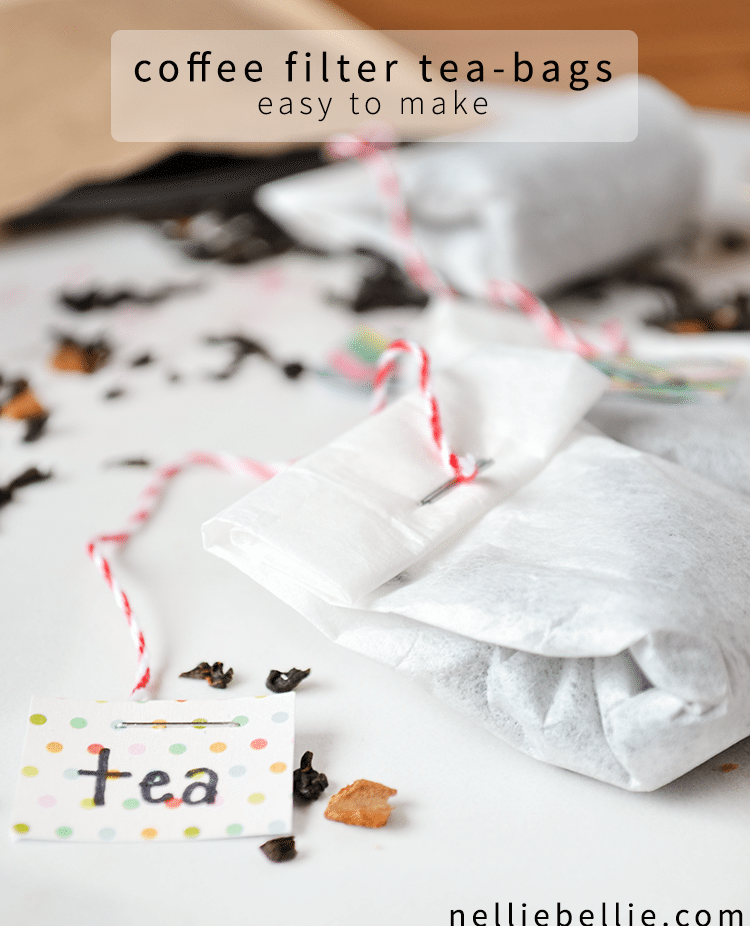 Easy-to-Make Coffee Filter Tea Bags