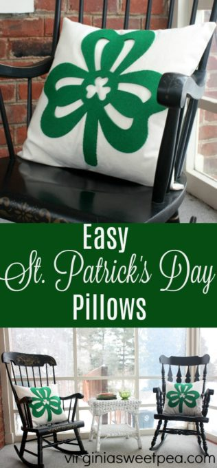 St. Patrick's Day DIY Pillow Cover