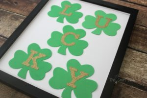 Glittery Alphabetical Shamrock Wall Art