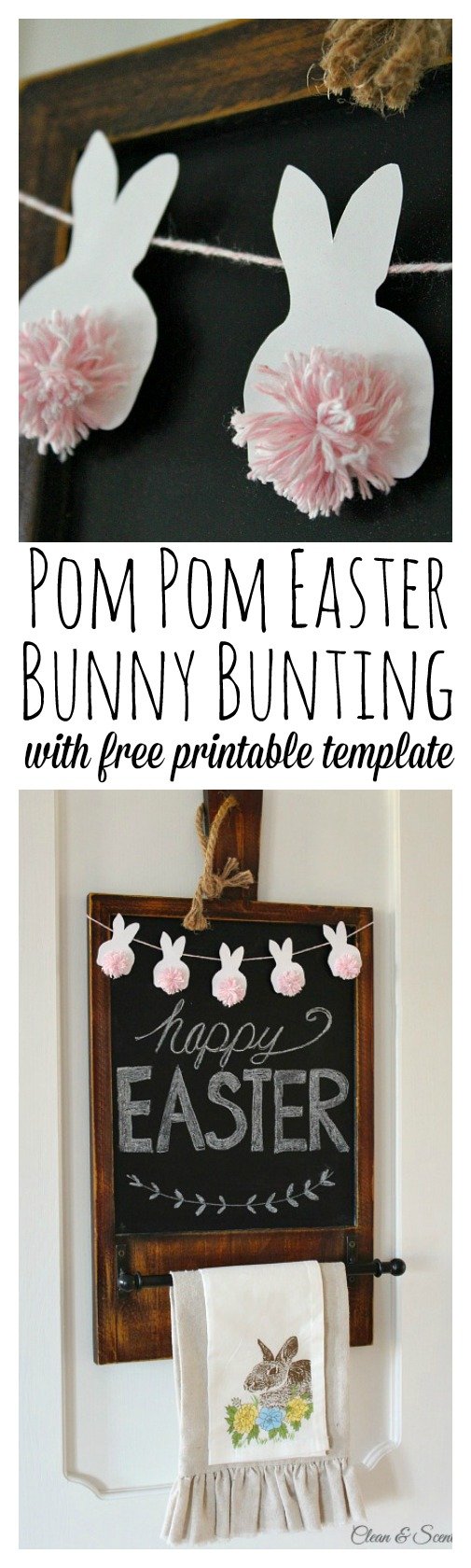 Rustic Easter Decor Craft Mini Bunny Bunting