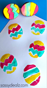 DIY Colorful Potato Stumping Easter Craft Idea for Kids
