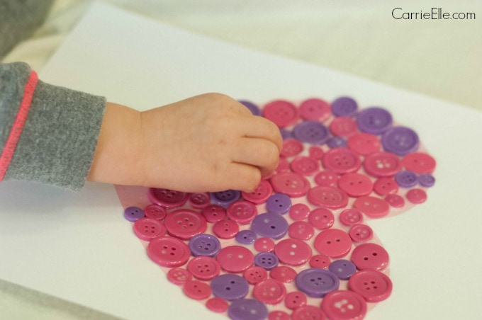 Easy Framed Button Heart Craft for The Beginners