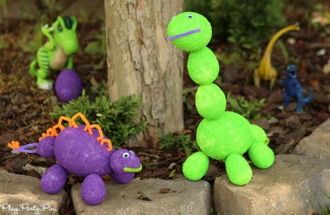 Easy and Cute Dinosaur Craft from Foam Eggs