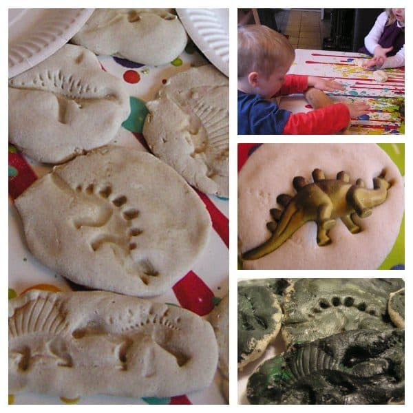 Quick and Easy Dinosaur Fossils from Flour Dough: The Easiest Dino Craft for Kids
