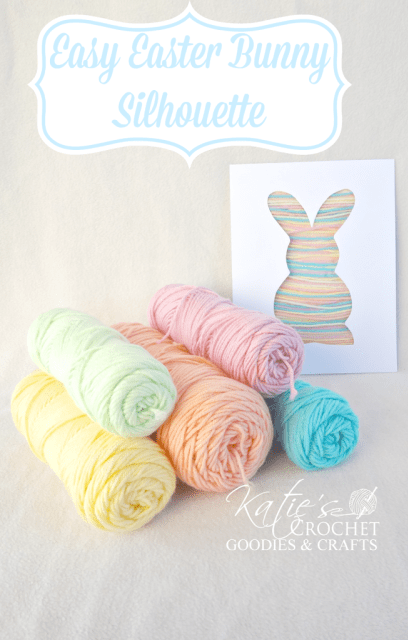 Super Simple Easter Bunny Silhouette: A Quick & Easy Yarn Craft for Toddler