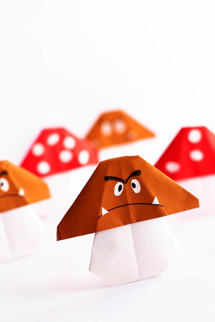 Easy Mario Mushroom Origami Paper Craft