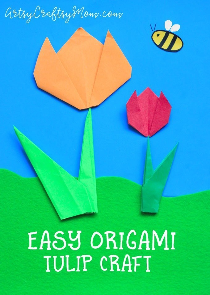 Utterly Easy Origami Tulip Crafts for Kids