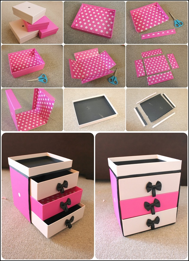 Classy Storage Drawer Box: An Easy Paper Craft