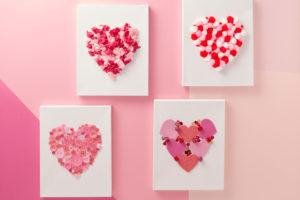 Make a Heart Canvas Valentines Day Kids Craft
