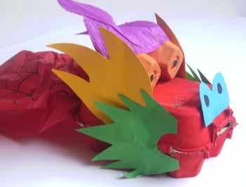 Decorative Egg Carton Chinese Dragon