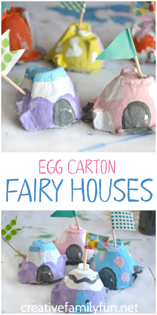 Totally Creative Egg Carton Fairy Houses