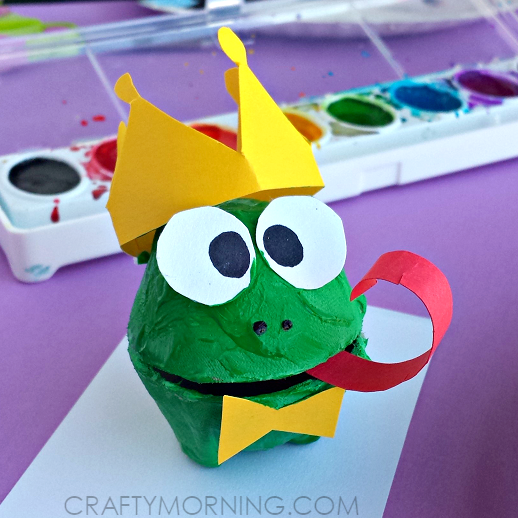 Egg Carton Frog Prince Craft: Disney Craft for Kids