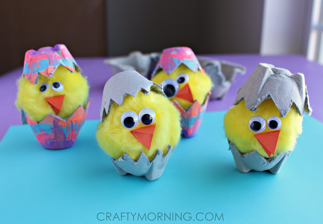 Recycled Egg Carton Hatching Chicks Easter Craft Truly Hand Picked