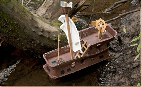 Egg Carton Pirate Ship Craft with the Perfect Color Accent