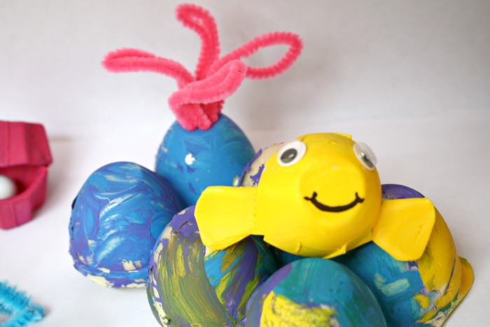Recycled Egg Carton Sea Life with Cute Ocean Animals