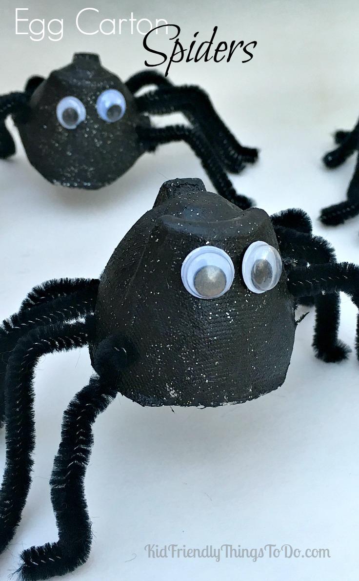 Super Scary Halloween Craft: Egg Carton Spiders