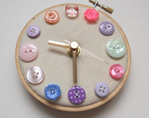 DIY Mini Wall Clock with Colorful Button Timers