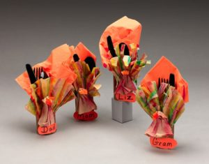 Fancy Coffee Filter Napkin Rings Turkey Craft for Thanksgiving Day