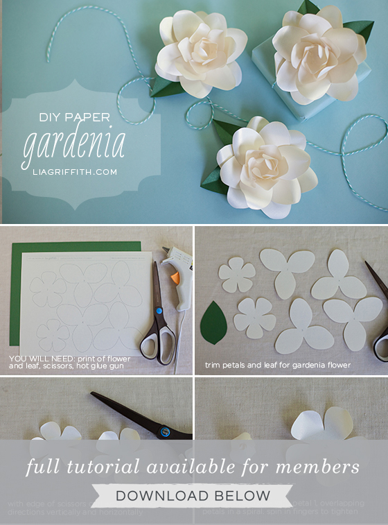 Easy and Beautiful Frosted Paper Gardenia