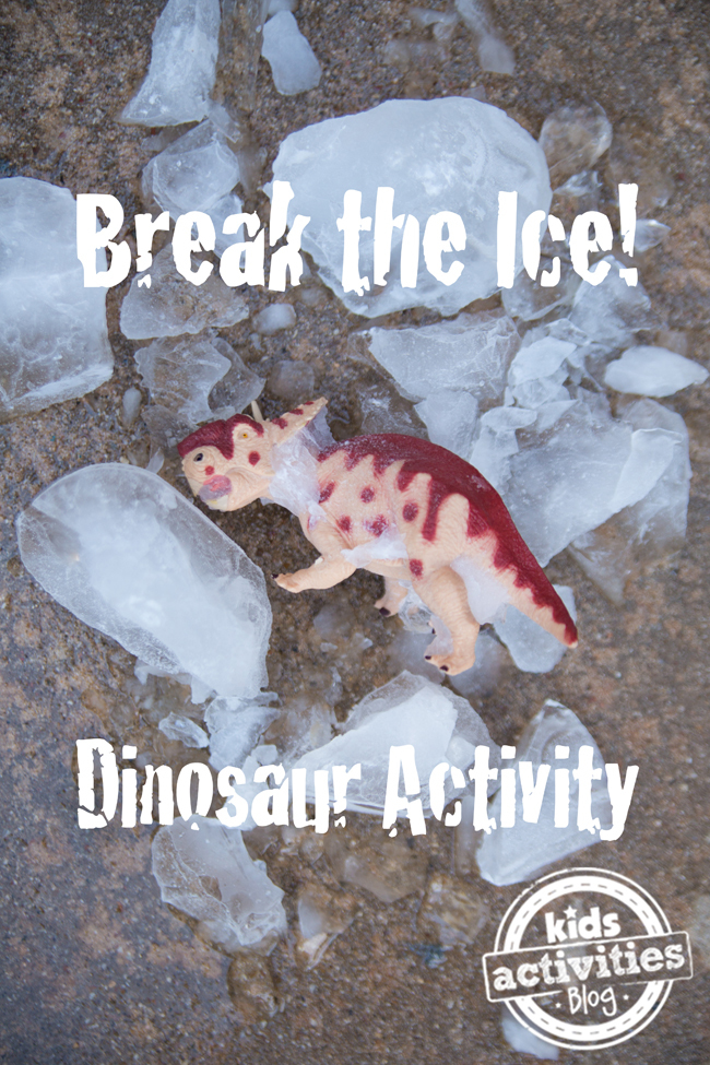 DIY Dinosaur Activity for Kids: Game with Ice Dinosaur Breakout