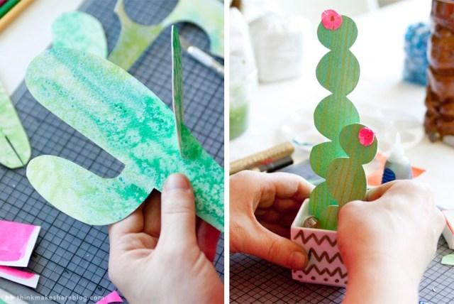 DIY Handmade Succulent Paper Cactus for Decoration