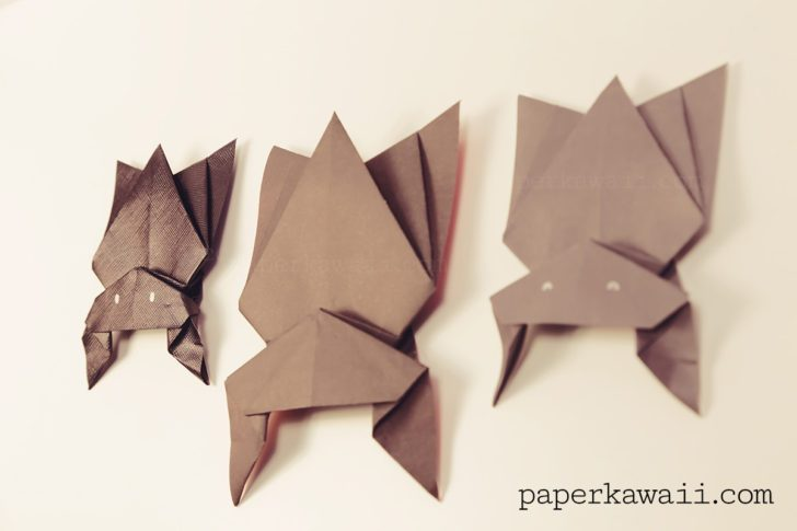Get Ready with These Super Catchy Origami Paper Bats