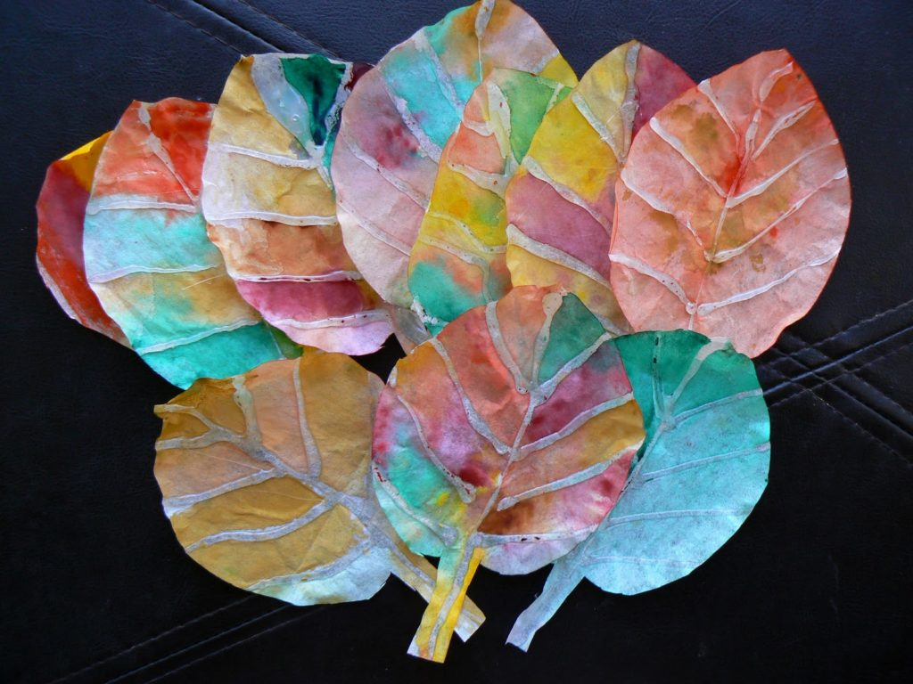 Fun DIY Craft- Fall Leaves from Coffee Filter and Watercolor