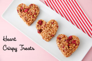 Heart Crispy Treats | Valentines Day Snack Ideas