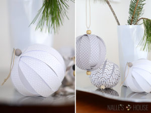 DIY Paper Ball Ornaments for Christmas Decoration