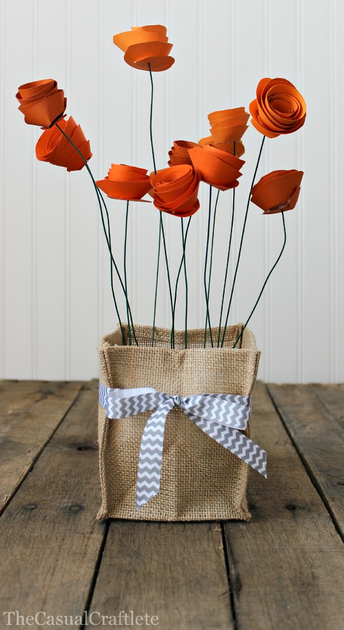Pretty Paper Rolled Flower Bunch