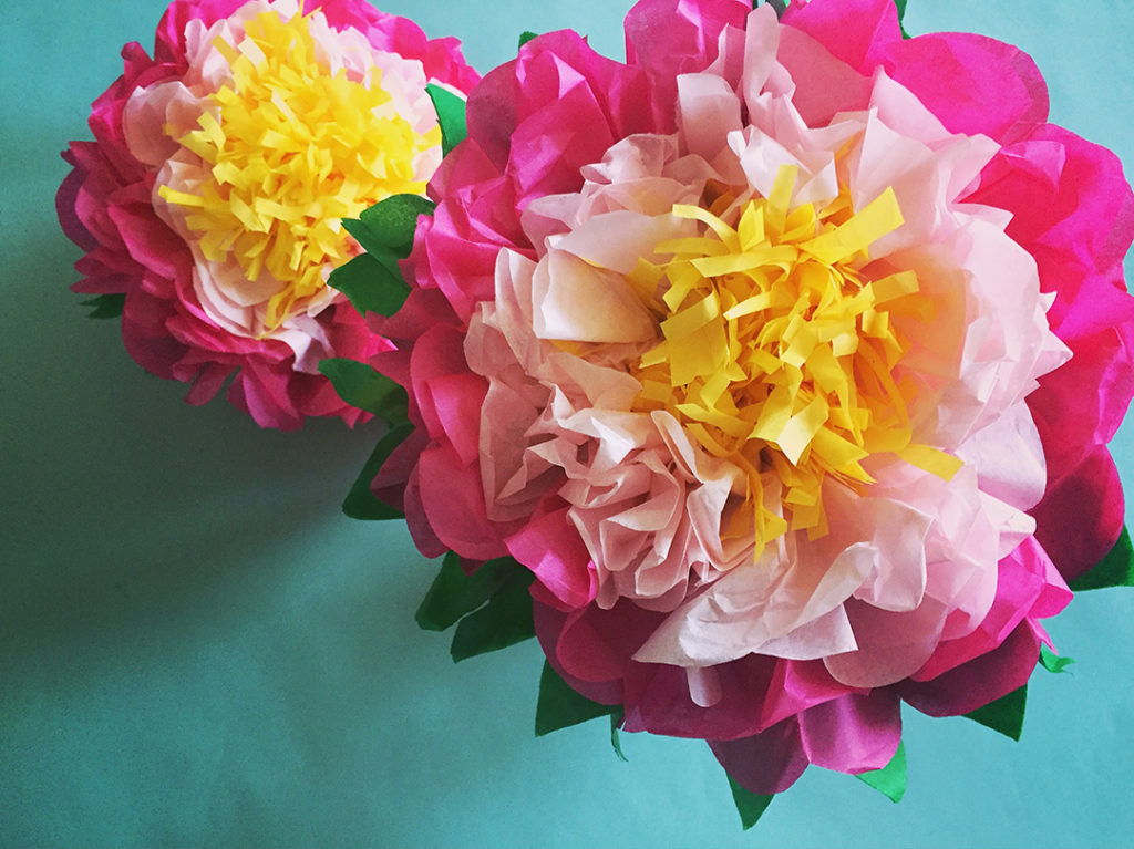 How to Make a Tissue Paper Flower – Paper Flower Crafts