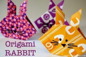 Learn to Make Origami Rabbit with Cute Prints