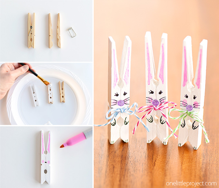 An Apparent Tutorial of Clothespin Bunnies for Easter Celebration