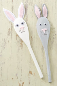 Learn to Craft Easter Bunny Spoon Puppets