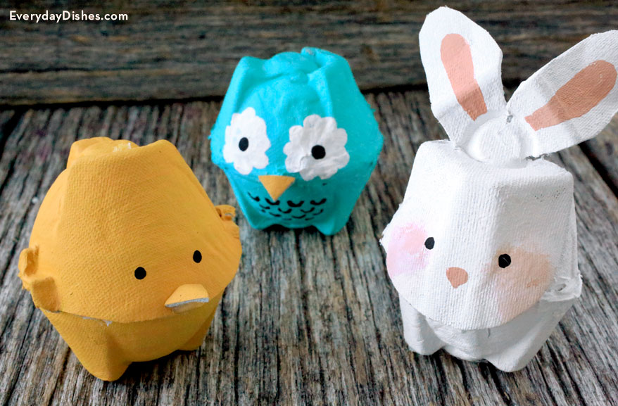 A SImple Tutorial of How to Make Egg Carton Animals
