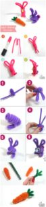 Pipe Cleaner Easter Bunny Tutorial for DIY Craft Idea