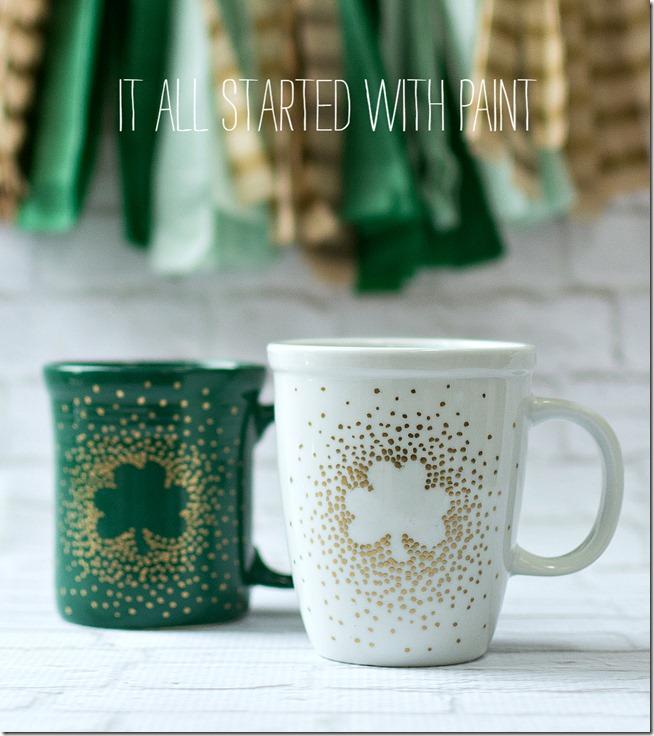 Simple DIY Project: Irish Coffee Mugs with Paint Creativity