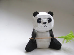 Egg Carton Fighter Panda Po from 'Kung Fu Panda'